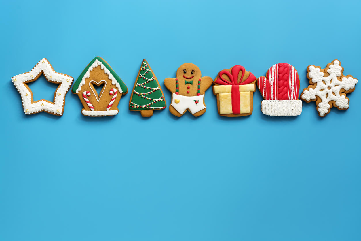 A variety of Christmas gingerbread